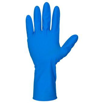 50 Stk. extra 8 mil Starke Nitril Einmalhandschuh 30cm Ungepudert | M | Med. Blau