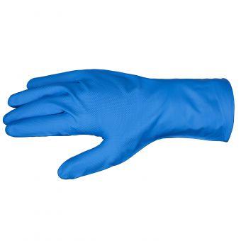 50 Stk. Nitril Einmalhandschuh, Premium-Qualität, 28 cm Ungepudert | M | Med. Blau
