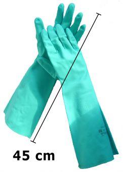 Extra lange Trivex-Nitril Chemieschutz-Handschuhe