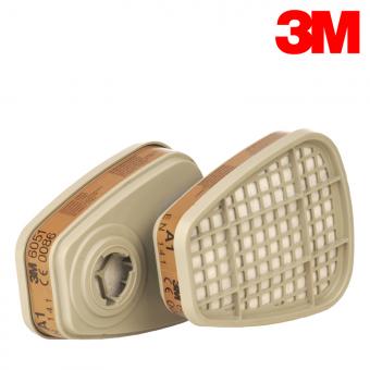 3M A1 Filterpatrone 6051 (organsiche Gase & Dämpfe) A1