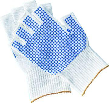 Weißer Feinstrick Handschuh 100% Fingerspitzengefühl 5 Fingerlos   8   Weiß