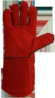 Schweißerhandschuhe mit Kevlar®-Garn und gefüttert 10 | rot