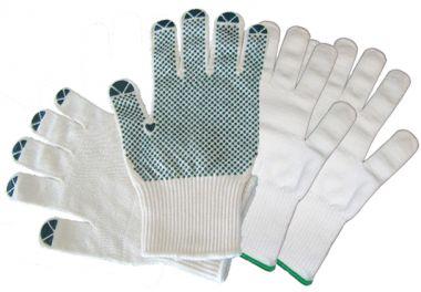 Feinstrick-Handschuhe 2-Schichten Nylon/Baumwolle