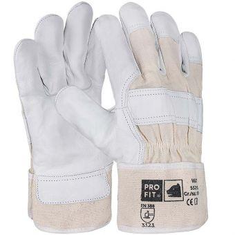 Pro-Fit Rindvollleder-Handschuh, natur