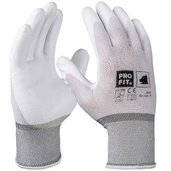 TOP PU-beschichtete Feinstrick Handschuhe TOP | 6 | Weiß