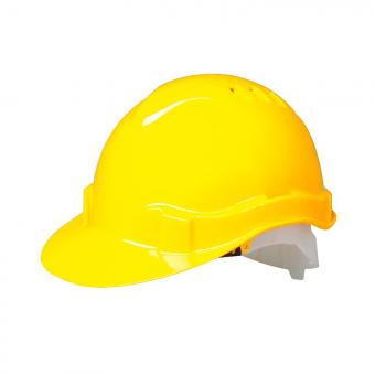 Moderner Schutzhelm mit Komfort-6-Punkt Gurtband 6-Punkt | Gelb