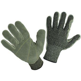 Schnittschutzhandschuh Leder + Hppe Cut 5