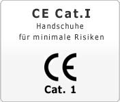 CE Cat. 1 Handschuhe für minimale Risiken