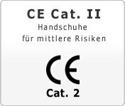 CE Cat. 2 Handschuhe für mittleren Risiken