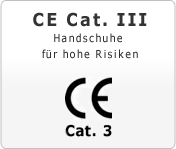 CE Cat. 3 Handschuhe für hohe Risiken