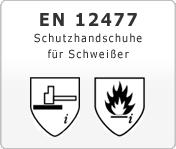 DIN EN 12477 Schutzhandschuhe für Schweißer