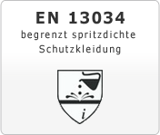 EN 13034 begrenzt spritzdichte Schutzkleidung