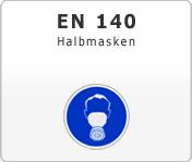 DIN EN 140 Atemschutzgeräte Halbmasken