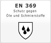 DIN EN 369 Schutz gegen Öle und Schmierstoffe