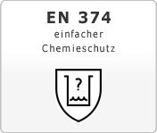 DIN EN 374 einfacher Chemieschutz