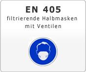 DIN EN 405 Atemschutzgeräte filtrierende Halbmasken mit Ventilen