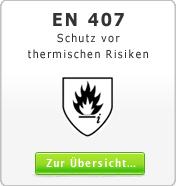 DIN EN 407 Schutz vor thermische Risiken