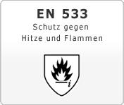 DIN EN 533 Schutzkleidung gegen Hitze und Flammen